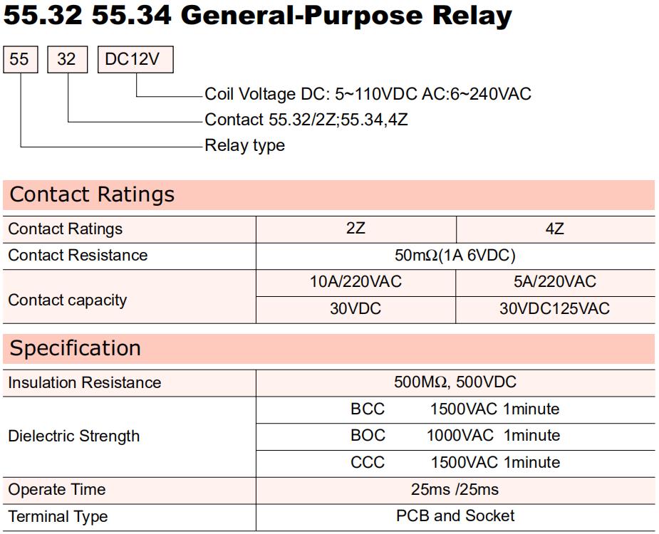 General Purpose Relay-55.34
